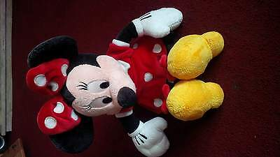 Minnie Mouse Soft Toy (1) Red Dress USED