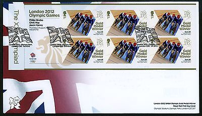 Fdc 2012 Cycling Track Gb Team Gold Medal First Day Cover London Olympic Games
