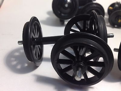 G Scale Freight Car Black Plastic wheels Assortment Qnty 15