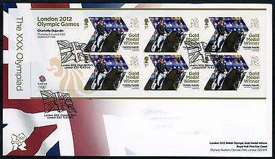 Fdc 2012 Charlotte Dujardin Gold Medal First Day Cover London Olympic Games