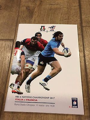 Italy V France- 11 March 2017- Official Programme- Six Nations