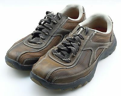 Skechers 'Artifact Muster' Mens Brown Leather Casual Oxford Sneaker Shoes 8 D