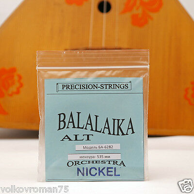 Three 3 string Alto BALALAIKA ALT Nickel Wound strings made in Ukraine Balalayka