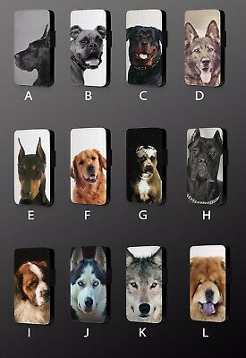 Most Popular Breeds Dogs Pet Lover  Leather Flip Phone Case Cover L564