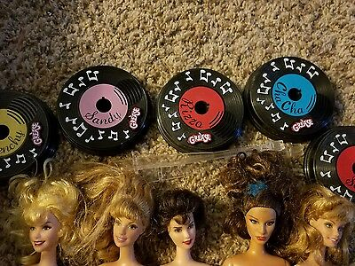 Grease Barbie dolls lot of 5