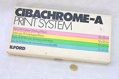 Ilford Cibachrome-A - Set of 19 Colour Printing Filters - 12cm x 12cm - Complete