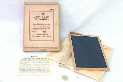 vintage Ilford Darkroom Safelight 5x7 inch Filter  Infra-Red 903