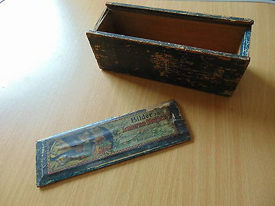 Victorian Wooden Magic Lantern Slide Box Bilder Zu Laterna Magica + Paper Label