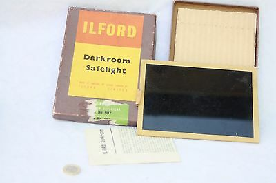 vintage Ilford Darkroom Safelight 5x7 inch Filter  DARK GREEN no 907