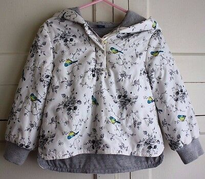 Baby Gap Girls Bird and Rose Floral Print Light Pullover Lined Jacket Size 3T
