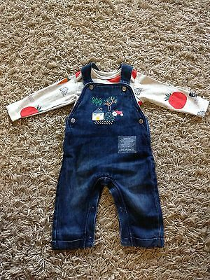 BNWOT M&s Baby Boy Dungaree Outfit 3-6 Months