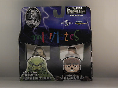 GLOW IN THE DARK CREATURE and TRANSFORMATION WOLFMAN MINIMATES