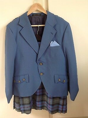 KILT OUTFIT, AIRFORCE BLUE/GREEN, MAN or BOY, SMALL SIZE,