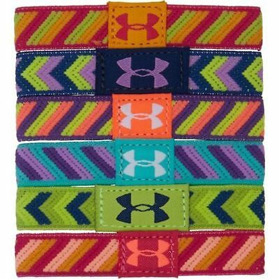 Under Armour Girl's UA Patterncraze Performance Wristbands (6 Pack) - NWT