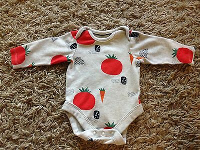 M&s Baby Long sleeve Vest 0-3 Months