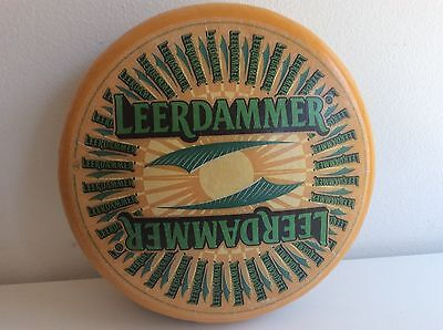 Vintage Leerdammer Fake Cheese Wheel Prop Display Cafe Decor Plastic Replica