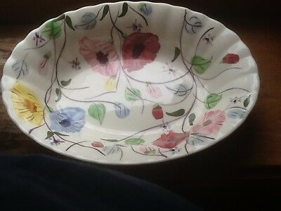Blueridge Southern Pottery  unmarked  oval vegetable bowl.  Unmarked  Chintz