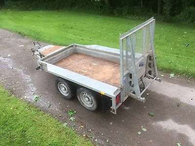 Ifor Williams Plant Trailer/ Twin Axle Trailer/ Digger Trailer 8x4ft