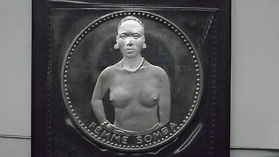 1971 Dahomey 1000 Francs Femme Somba  Silver Proof coin in OGP