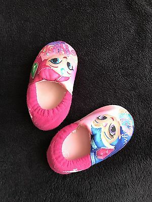 Baby Girl Pink Slippers Flashing Size 4-5