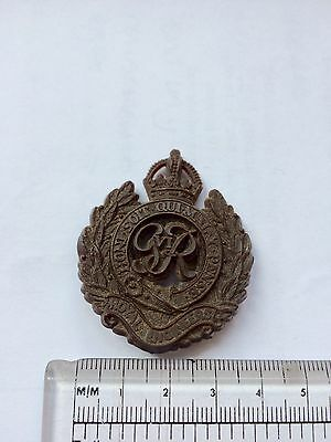 "Economy Issue WW2 ""Royal Engineers"" British cap badge, 'plastic' economy WW2"