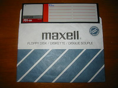Vintage 8inch floppy disc branded MAXELL single sided 128kb