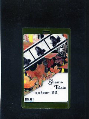 Shania Twain on Tour '98 - Laminate all access backstage pass