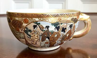 Japanese Satsuma Pottery Cup, Meiji Period, Signed, c.1890.