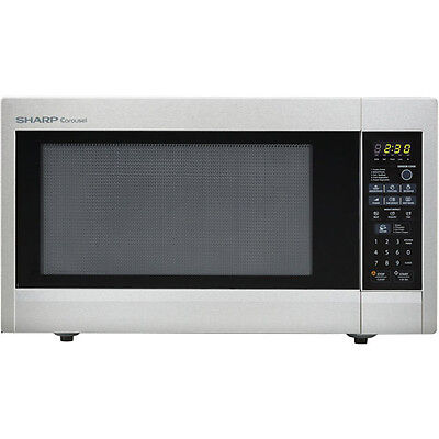 Sharp R651ZS Carousel Countertop Microwave Oven 2.2 cu. ft. 1200W Stainless Ste