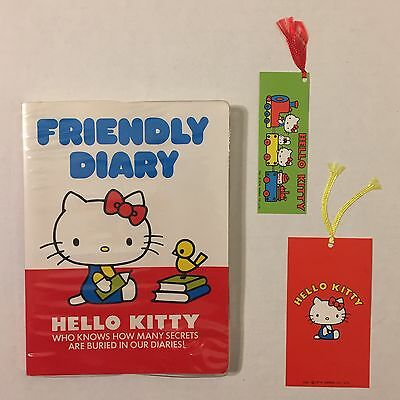 Vintage 1970s NEW BLANK Sanrio Hello Kitty Friendly Diary + 2 Bookmarks Book 70s