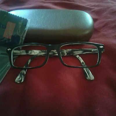 ***authentic Rayban Eyeglasses**frame Only**rb 5162**2262**black/grey Marble***