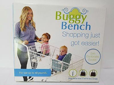 Buggy Bench Shopping Cart Seat in Pink Geometric for Baby or Toddler Folds Up