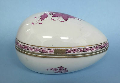 HEREND HUNGARY FINE PORCELAIN OVOID VASE - 6778 - Birds, Butterflies & Insects