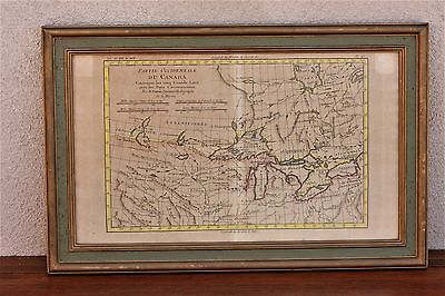 The Great Lakes, Late 18th Century Map of Canada / United States Border,