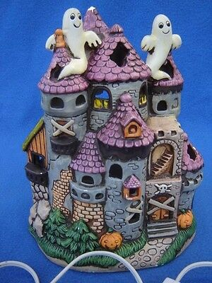 Rare Vintage Geo. Z. Lefton Lighted Ghost Halloween House 1987 no box GUC #06330