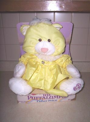 VINTAGE  Fisher Price Puffalumps Kitten 8000 In Box YELLOW Kitty Cat 1986