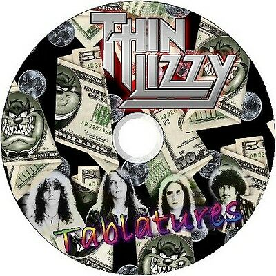Thin Lizzy Bass & Guitar Tabs Tablature Software Cd Best Of Greatest Hits Rock