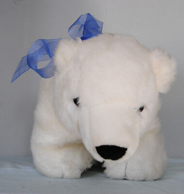Plush Polar Bear Marshmellow Stuffed Animal Lovey Princess Soft Toys Borders EC