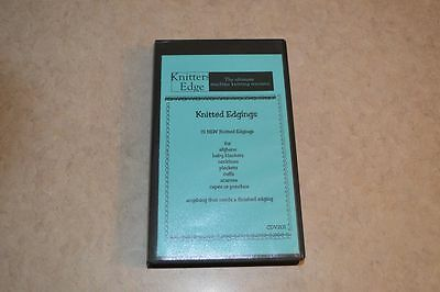 15 NEW machine knitting  Knitted Edgings VHS Tape from knitters Edge