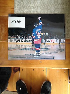 Gretzky 16x20 Retirement Photo w/Autographed Index Card, Rangers Oilers Kings