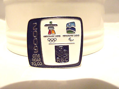 VANCOUVER 2010 Olympic RBC 1 Year to Go 2009 Pin Lmt