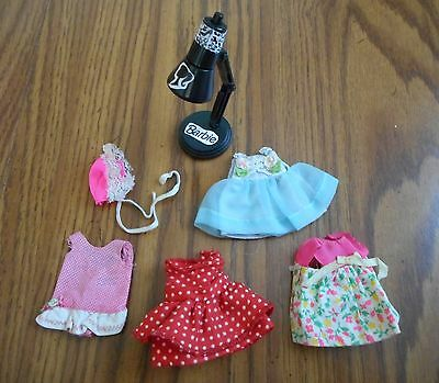 Vintage Tutti Doll Clothes + Barbie Dollhouse Lamp that works