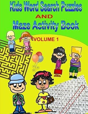 Kids Word Search Puzzles and Maze Activity Book Paperback