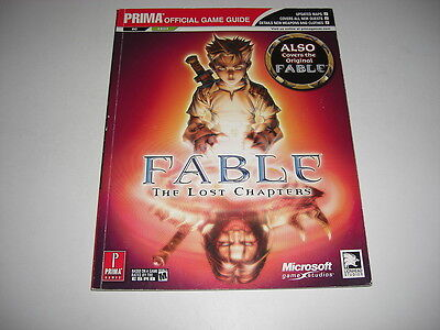 FABLE 1 The Lost Chapters - PRIMA OFFICIAL STRATEGY GAME GUIDE BOOK PC + Xbox