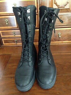 Bally black leather lace up men's boots. New size 11, Biker or Equestrian