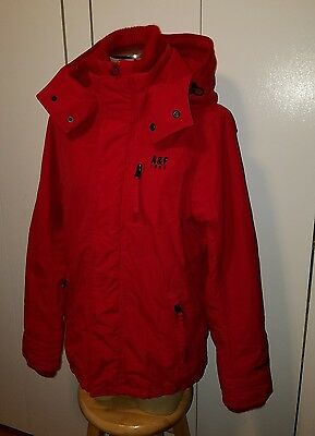 Men's size medium Abercrombie and Fitch red jacket coat parka