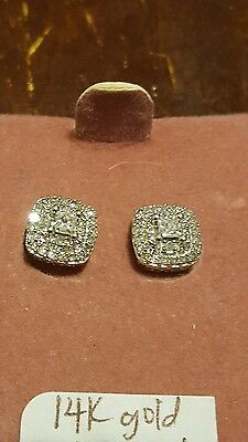 14k white gold and 1/2 ct diamond earrings by zales