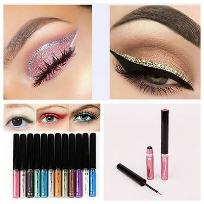 Eye Cosmetic Glitter Eyeshadow Colorful Eyeliner Pen Shimmer Liquid