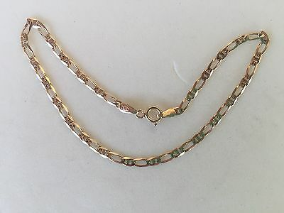 Italian 9ct Gold Link Bracelet..20cm..from Prouds...