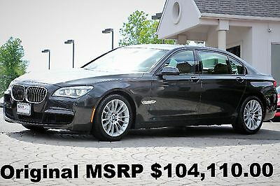 2015 BMW 7-Series 750Li xDrive M Sport Edition 2015 M Sport Edition Luxury REAR Seating PKG Active Cruise Control Graphite AWD